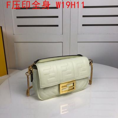 cheap quality Fendi Bags full embossed F Logo Beige