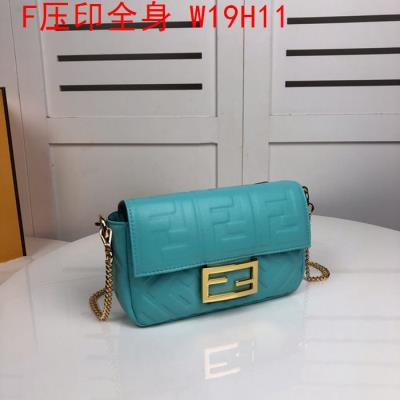 cheap quality Fendi Bags full embossed F Logo Blue