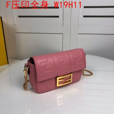 cheap quality Fendi Bags full embossed F Logo Pink
